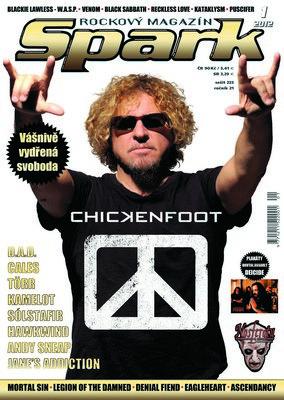 Sammy Hagar na titulnej strane magazínu Spark