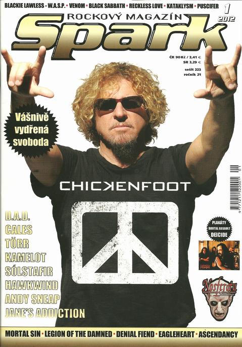 Hlavný článok januárového magazínu Spark - kapela Chickenfoot