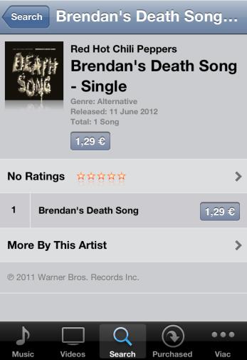 Singel v iTunes