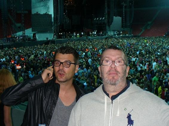 Richard si koncert vychutnal aj so svojim manažérom Adnanom Hamzičom