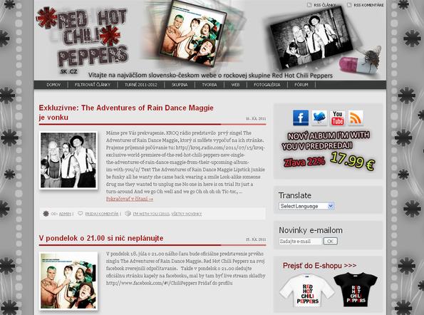 Júl 2011 - v deň vydania prvého singlu The Adventures of Rain Dance Maggie dizajn zmenený