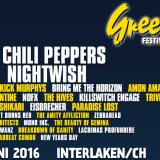 Red Hot Chili Peppers headleinerom švajčiarskeho festivalu Greenfield v 2016!